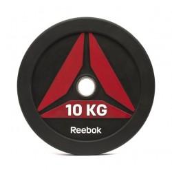 Reebok 10Kg Bumper Plate (RSWT-13100) - Matte Black/Red
