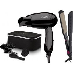 Revlon Travel Hair Dryer / Hair Straightener With Brush