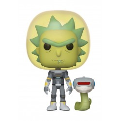 Funko POP Animation: Rick & Morty - Space Suit Rick w/Snake