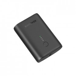 RAVPower 10000mAh PD18w Charger with Type-A to Type-C Cable - Black