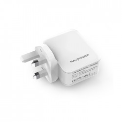 RAVPower 24W, Dual Ports Wall Charger UK (RP-PC001W) – White