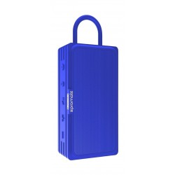 Promate Rustic-3 BT 4.2 With MicroSD Water Resistant Speaker - Blue front view