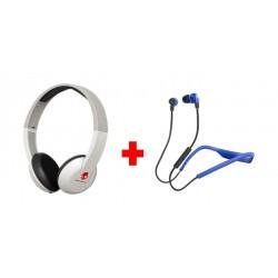 Skullcandy Uproar Bluetooth Wireless Headphones with Mic + Skullcandy Smokin Buds 2 Wired Earphone