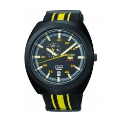 Seiko Mechanical Analog Gents Fabric Watch (A289J) - Yellow / Black