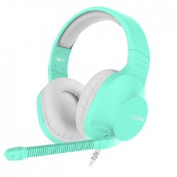 Sades Spirits SA721 Gaming Headset Cyan 50mm Speakers Controls on Left Earcup Flexible Microphone