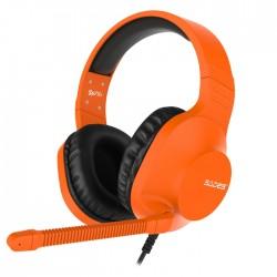 Sades Spirits SA721 Gaming Headset Orange 50mm Speakers Controls on Left Earcup Flexible Microphone