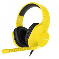 Sades Spirits SA721 Gaming Headset Yellow 50mm Speakers Controls on Left Earcup Flexible Microphone