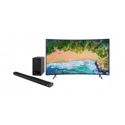 SAMSUNG 49-inch UHD Smart LED Curved TV + Polk Audio Signa 2 Wireless Soundbar