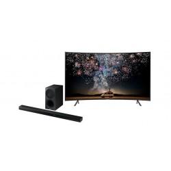 Samsung 55 Inch UHD Smart Curved LED TV + Samsung HW-K550 340W 3.1Ch Bluetooth Soundbar