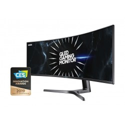 Samsung 49-inches QLED Curved Gaming Monitor (LC49RG90SSMXUE) - Black