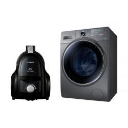 Samsung 8Kg Front Load Washing Machine + Samsung Bagless Vacuum Cleaner 2000W