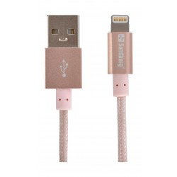 Sandberg 1M Sync and Charge Lightning Cable (480-07) - Rosegold