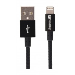 Sandberg 1M Sync and Charge Lightning Cable (480-12) - Black