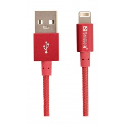 Sandberg 1M Sync and Charge Lightning Cable (480-15) - Red