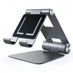 Satechi R1 Adjustable Mobile Stand Space Gray ALUMINUM HINGE HOLDER FOLDABLE buy in xcite kuwait