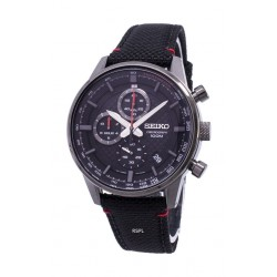Seiko SB315P Gents Quartz Chronograph Watch Rubber Strap – Black
