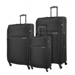 Kamiliant Shifu 3 Set 55+69+80 CM Soft Luggage - Black