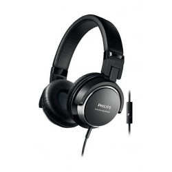 Philips On Ear Headphones With Mic - Black (SHL3265BK/00)