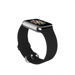 Promate Silica Contoured Silicone Band For 38mm Apple Watch - Black
