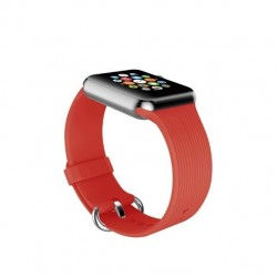 Promate Silica Contoured Silicone Band For 38mm Apple Watch - Red