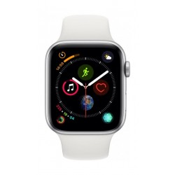 Apple Watch Series 4 44mm, Silver Aluminium Case, White Sport Band