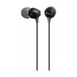 Sony In-Ear Headphone With Mic (MDR-EX15LBZE) – Black