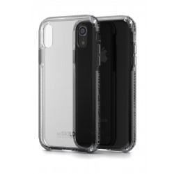 Soskild iPhone XR Defend Heavy Impact Case - Black & Tempered Glass Sp
