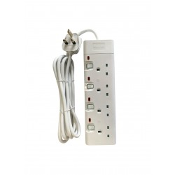 Philips 4-Sockets Power Extension 2M (SPN1942WB/56) - White