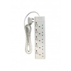 Philips 5-Sockets Power Extension 3M (SPN1952WB/56) - White