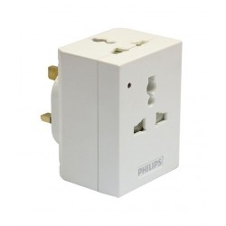 Philips 3-Sockets Wall Plug - PE012