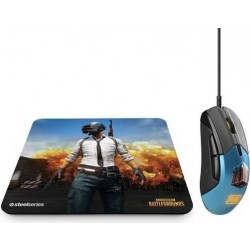 SteelSeries QCK+ PUBG Gaming Mousepad + SteelSeries RIVAL 310 PUBG Edition Gaming Mouse
