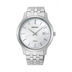 Seiko 42mm Analog Casual Gents Metal Watch (SUR289P) - Silver