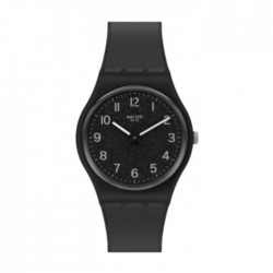 Swatch Quartz Analog 34mm Rubber Unisex Watch (SWAGB326)