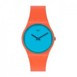Swatch Quartz Analog 34mm Rubber Ladies Watch (SWAGO121)
