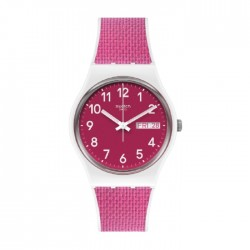 Swatch Quartz Analog 34mm Rubber Unisex Watch (SWAGW713)
