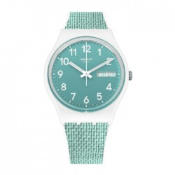 Swatch Quartz Analog 34mm Rubber Unisex Watch (SWAGW714)