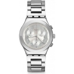 Swatch 40mm Chronograph Gents Metal Watch (SWAYCS604G) - Silver