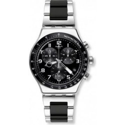 Swatch 43mm Chronograph Gents Metal Watch (SWAYVS441G) - Black