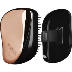 Tangle Teezer Compact Styler On-the-go Detangling Hairbrush - Black/Rosegold