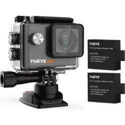 ThiEYE i60+ 4K 1080p WiFi Action Camera With 2 Batteries - Black