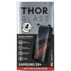 Thor Tempered Glass Protection For Galaxy S9+ (33810) - Black