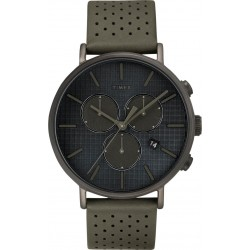 Timex SuperNova 41mm Leather Watch (TW2R97800)
