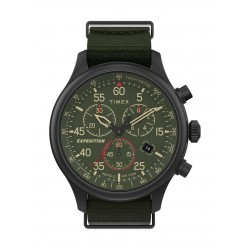 Timex 43mm Gent's Chronograph 43mm Fabric Strap Watch - (TW2T72800)