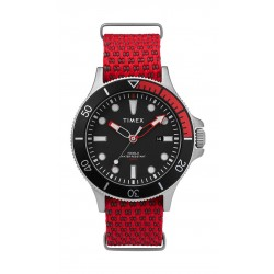 Timex Allied Coastline 43mm Fabric Strap Watch (TW2T30300) - Red