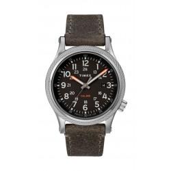 Timex Allied LT 40mm Leather Strap Watch (TW2T33200) - Grey