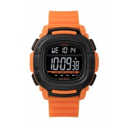 Timex BST.47 47mm Gent's Rubber Strap Digital Watch (TW5M26500) - Orange/Black