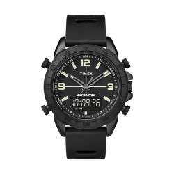 Timex Expedition Pioneer Combo 41mm Quick-Release Silicone Strap Watch (TW4B17000) - Black