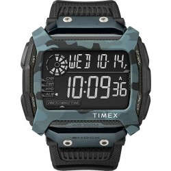 Timex Analog Shock Gents Watch - Rubber Strap TW5M18200CG - Black