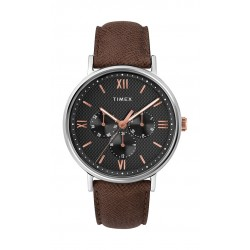 Timex Southview Multifunction 41mm Leather Strap Watch (TW2T35000) - Brown