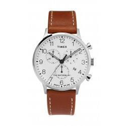 Timex Waterbury Classic Chronograph 40mm Leather Strap Watch (TW2T28000) - Brown